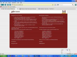 situs BII palsu setelah login