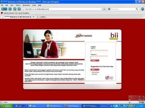 situs internet banking BII palsu