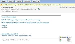 Email palsu Standard Chartered Bank