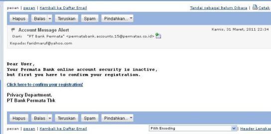 email dari penipu