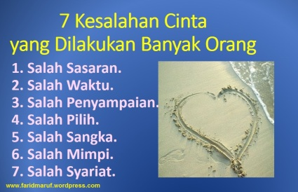 7 kesalahan cinta